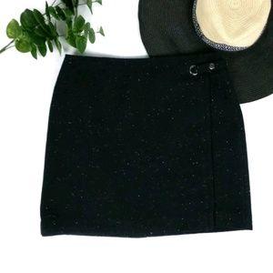 Banana Republic wool blend speckled a-line skirt